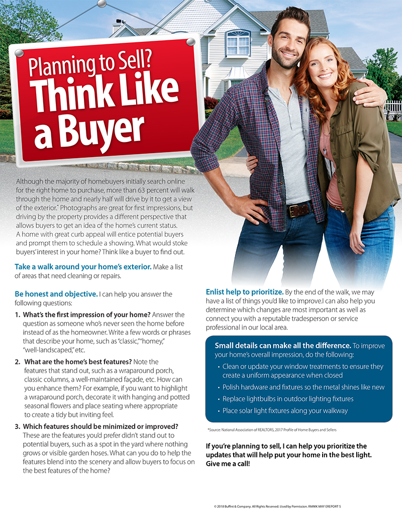 Planning to Sell - think like a buyer - May 2018